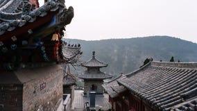 Podwórze świątynie na Wschodnim wzgórzu w Longmen zdjęcie royalty free