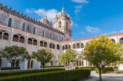 Podwórze Alcobaca monaster obrazy royalty free