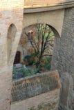 Podwórze antyczny forteca w Vignola Obrazy Stock