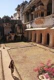 Podwórze Bundi pałac, India zdjęcie royalty free