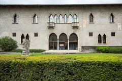 Podwórze Castelvecchio muzeum, Verona zdjęcie royalty free