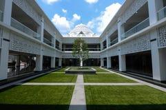 Podwórze Cyberjaya meczet w Cyberjaya, Malezja Obraz Stock