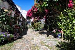 Podwórze dekorował z kwiatami, cordoba, Hiszpania zdjęcie royalty free