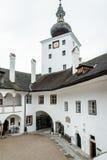 Podwórze Grodowy Orth w Austria zdjęcia stock