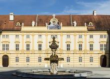Podwórze historyczny Melk opactwo obrazy royalty free