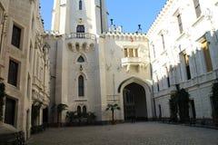 Podwórze Hlubokà ¡ nad Vltavou kasztel obraz royalty free