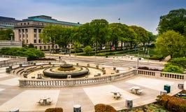 Podwórze i budynki w Capitol kompleksie, Harrisburg obraz royalty free