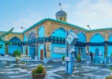 Podwórze Imamzadeh Ahmad meczet, Isfahan, Iran Obrazy Royalty Free