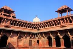 Podwórze Jahangiri Mahal w Agra forcie, Uttar Pradesh, India Zdjęcia Royalty Free