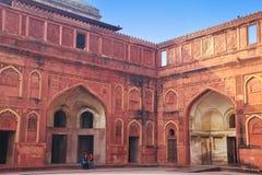 Podwórze Jahangiri Mahal w Agra forcie, Uttar Pradesh, India Obrazy Stock