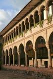 Podwórze klasztor Santo Domingo w Koricancha kompleksie fotografia stock