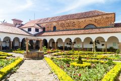 Podwórze klasztor Santo Ecce fotografia royalty free