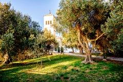 Podwórze kościół St Nikola w Ulcinj, (Sveti Nikola) zdjęcia royalty free