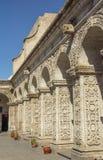 Podwórze Kościelny Los Angeles Compania, Arequipa, Peru obrazy royalty free