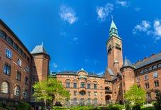 Podwórze Kopenhaga urząd miasta obrazy stock