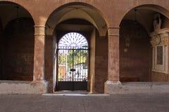 Podwórze Królewska akademia Hiszpania w Rzym obraz royalty free