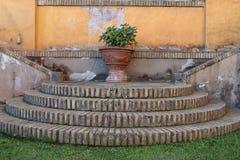 Podwórze Królewska akademia Hiszpania w Rzym fotografia royalty free