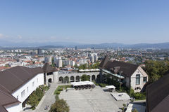 Podwórze Ljubljana kasztel zdjęcie stock