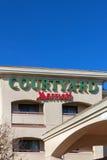 Podwórze Marriot motelu powierzchownością zdjęcia royalty free