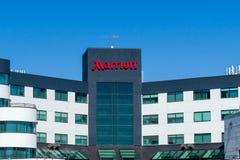 Podwórze Marriot powierzchowności logem i znakiem zdjęcia royalty free