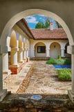 Podwórze monaster fotografia stock