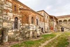 Podwórze monaster w świętym Mary w Apollonia zdjęcia stock