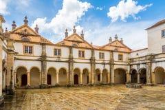Podwórze monasteru klasztor Chrystus w Tomar, Portugalia fotografia royalty free