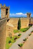 Podwórze Montalcino forteca w Val d ` Orcia, Tuscany, Włochy Fotografia Royalty Free
