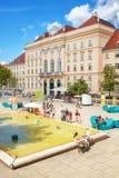Podwórze MuseumsQuartier Wien zdjęcie royalty free