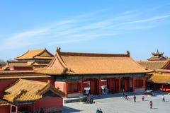 Podwórze Niedozwolony miasto w Pekin Zdjęcia Stock