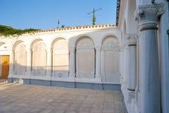 Podwórze oczekiwanie modlitwy w karaimów kenassas Yevpa Zdjęcia Stock