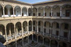 Podwórze Palazzo dei Normanni w Palermo fotografia stock