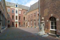 Podwórze poprzedni sierociniec w Leiden, holandie Zdjęcie Royalty Free