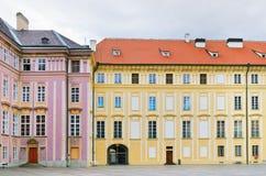Podwórze Praga kasztel zdjęcia royalty free