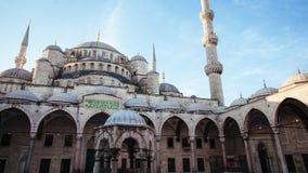 Podwórze przy Błękitnym meczetem w ranku, Istanbuł obraz stock