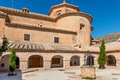 Podwórze przy monasterem Dziewica Del Saliente Zdjęcia Stock