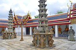 Podwórze przy Watem Pho obraz royalty free