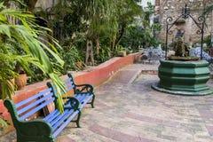 Podwórze stary kolonisty dom - Kuba obrazy royalty free