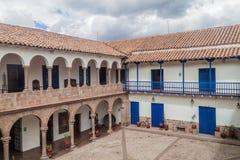 Podwórze stary kolonisty dom w Cuzco obraz royalty free