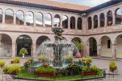 Podwórze stary kolonisty dom w Cuzco zdjęcia royalty free