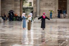 Podwórze Suleymaniye meczet w Istanbuł Zdjęcia Royalty Free