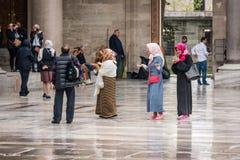 Podwórze Suleymaniye meczet w Istanbuł Zdjęcie Royalty Free