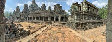 Podwórze w Bayon świątyni Angkor Thom w Kambodża obrazy stock