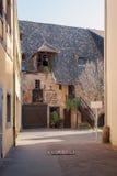 Podwórze w Colmar Obraz Royalty Free