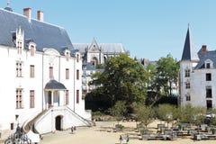 Podwórze w kasztelu diucy Brittany w Nantes Zdjęcie Royalty Free