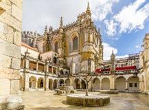 Podwórze w klasztorze Chrystus monaster w Tomar, Portugalia obrazy royalty free