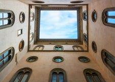 Podwórze w Palazzo Vecchio w Florencja obrazy stock