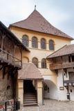 Podwórze Warowny Kościelny Prejmer w Prejmer mieście w Rumunia fotografia royalty free