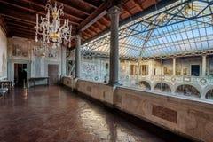 Podwórze willa los angeles Petraia blisko Florencja, obrazy stock