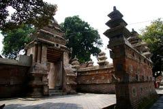 Podwórze wokoło Wielkiego Meczetowego Kotagede, Yogyakarta Obrazy Stock